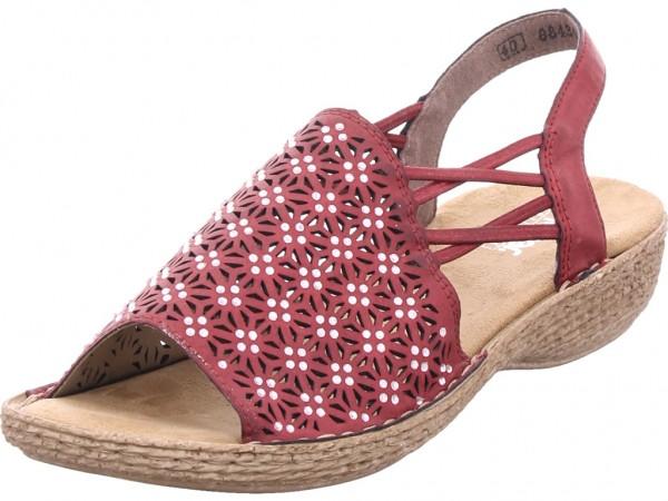 Rieker Damen Sandale Sandalette Sommerschuhe rot 658B2-35