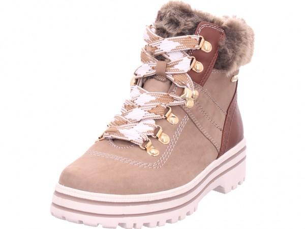 Jana Damen Stiefelette Damen Winter Stiefel Boots Stiefelette warm Schnürer braun 8-8-26219-25/341-341
