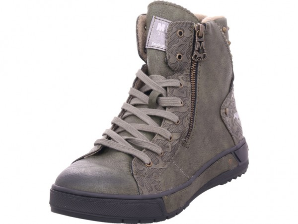 Mustang Damen Winter Stiefel Boots Stiefelette warm Schnürer grün 1338503-77