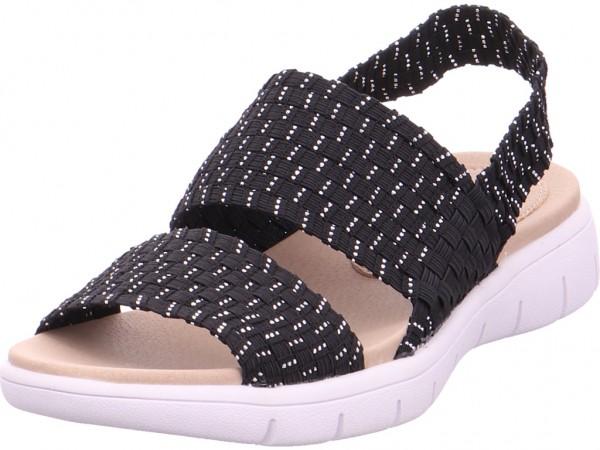 Rieker Damen Sandale Sandalette Sommerschuhe schwarz V9070-00