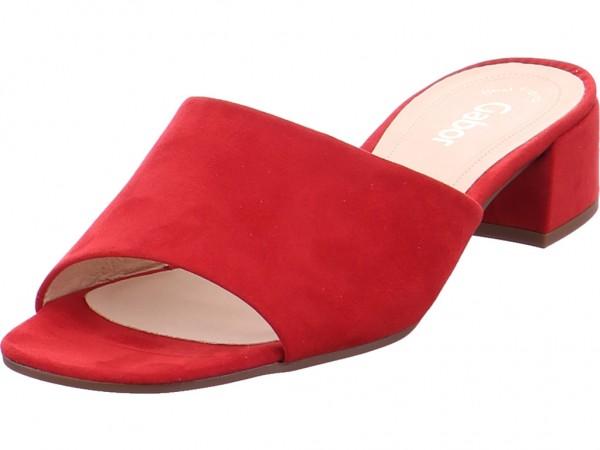 Gabor Damen Pantolette Sandalen Hausschuhe rot 21.700.45