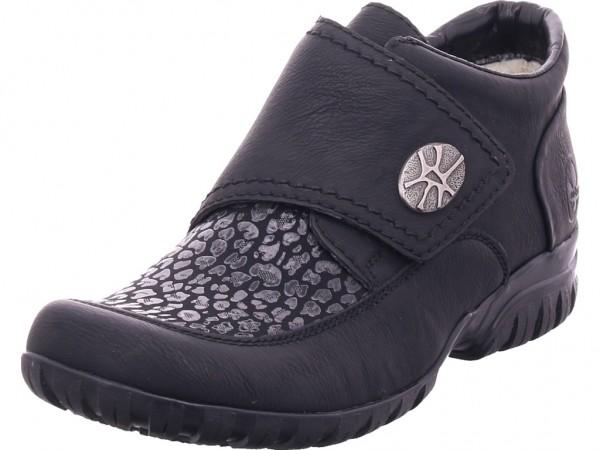 Rieker L466400 L46 Winter Stiefel Boots Stiefelette warm zum schlüpfen schwarz L4664-00