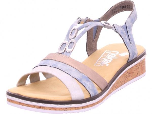Rieker Damen Sandale Sandalette Sommerschuhe grau V36G4 40