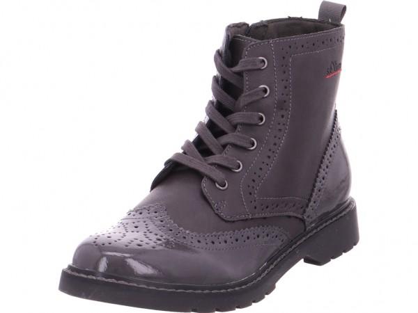 s.Oliver Woms Boots Damen Stiefel Schnürer Boots Stiefelette zum schnüren grau 5-5-25465-21/216-216