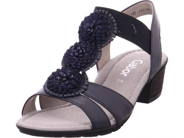 Gabor Damen Sandale Sandalette Sommerschuhe blau 84.563.26