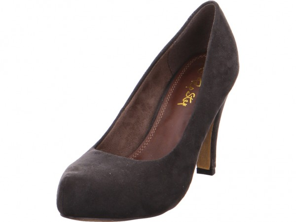 Quick-Schuh ab 50mm - Absatz/Keil Damen Pumps Stiletto High Heels Abendschuhe Ball grau 18010289-Dk.Grey