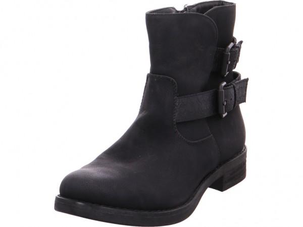 Quick-Schuh Schlupf-, Reißverschl.Stiefele Stiefel Stiefelette Boots elegant schwarz 18008252-Black