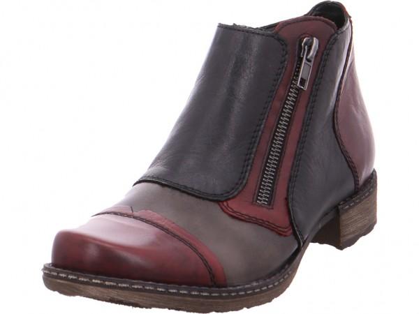 Remonte Damen Stiefel Stiefelette Boots elegant rot D4377-35
