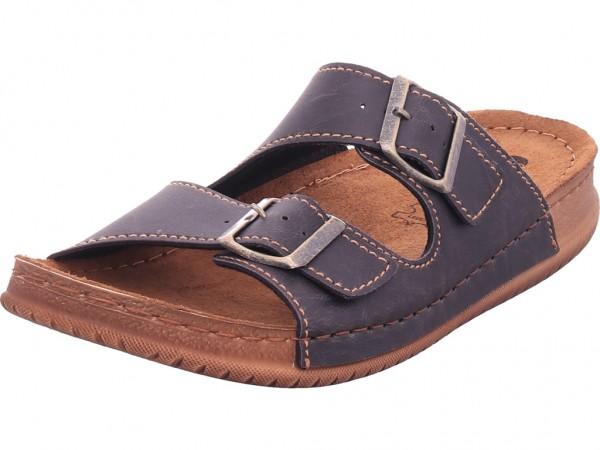 inblu Herren Pantolette Sandalen Hausschuhe schwarz TH016M13