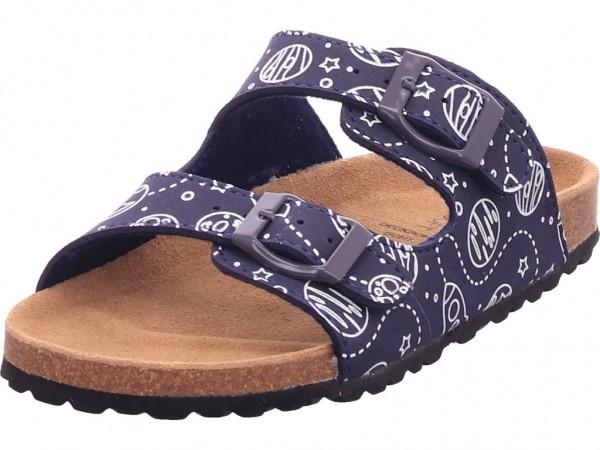 indigo Bio Kinder Unisex - Kinder Pantolette Sandalen Hausschuhe blau 474474000/838
