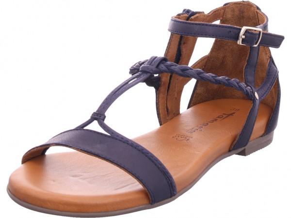 Tamaris Damen Sandale Sandalette Sommerschuhe blau 1-1-28043-24/805-805