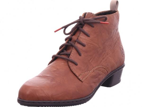 Rieker Damen Stiefel Schnürer Boots Stiefelette zum schnüren braun Y0743-22