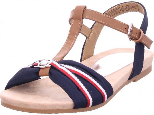 Tom Tailor Damen Sandale Sandalette Sommerschuhe blau 8092214