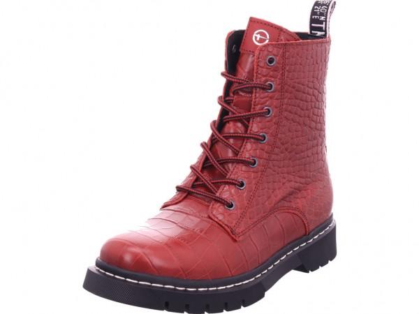 Tamaris Damen Stiefelette Damen Winter Stiefel Boots Stiefelette warm Schnürer rot 1-1-25865-25/574-574