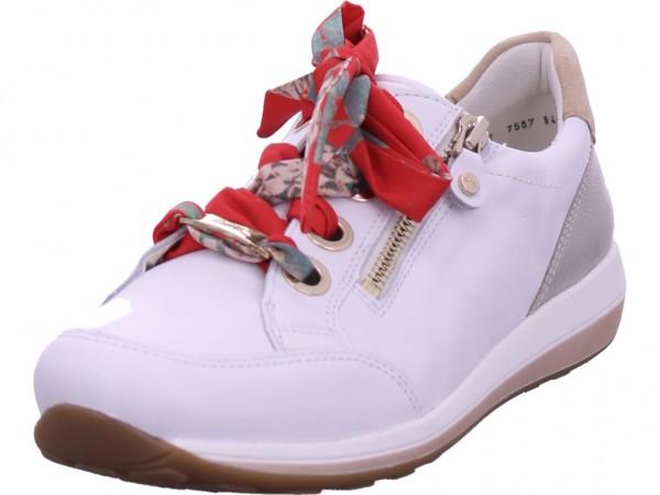 ara OSAKA Damen Halbschuh Sneaker Sport Schnürer zum schnüren weiß 12-34587-79