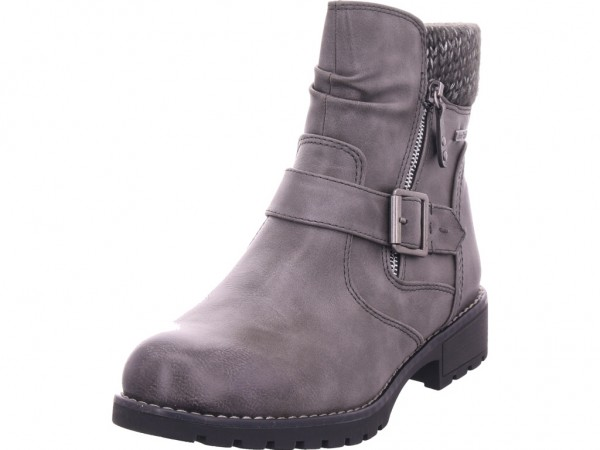 Jana Woms Boots Damen Winter Stiefel Boots Stiefelette warm zum schlüpfen grau 8-8-26420-23/206-206