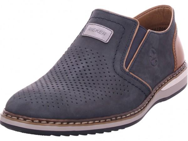Rieker Damen Schnürschuh Halbschuh sportlich Sneaker blau 16865-16