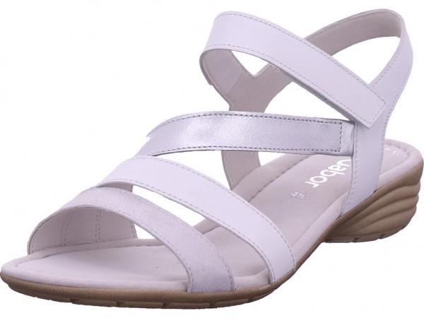 Gabor Damen Sandale Sandalette Sommerschuhe weiß 24.551.61