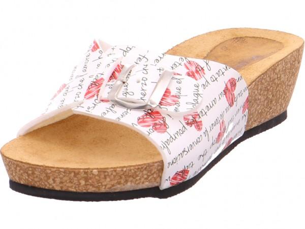 Quick-Schuh Pantl-ab30mm-Abs Damen Pantolette Sandalen Hausschuhe Clogs Slipper weiß 1000670/1