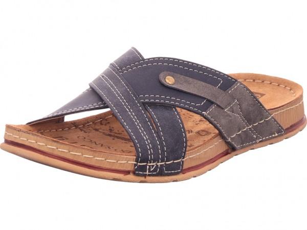 hengst Herren Pantolette Sandalen Hausschuhe schwarz C00215