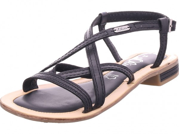 s.Oliver Woms Sandals Damen Sandale Sandalette Sommerschuhe schwarz 5-5-28120-22/001-001
