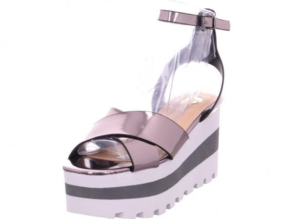 BUFFALO Damen Sandale Sandalette Sommerschuhe beige 316942