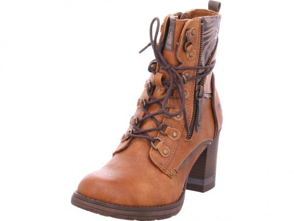 Mustang Damen Stiefel Schnürer Boots Stiefelette zum schnüren braun 1233505-307