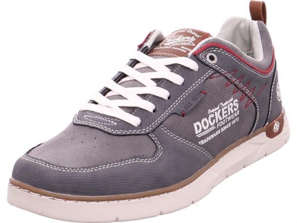 Dockers Herren Schnürschuh Halbschuh sportlich Sneaker grau