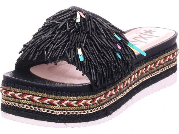 xyxyx Damen Pantolette Sandalen Hausschuhe schwarz 065137