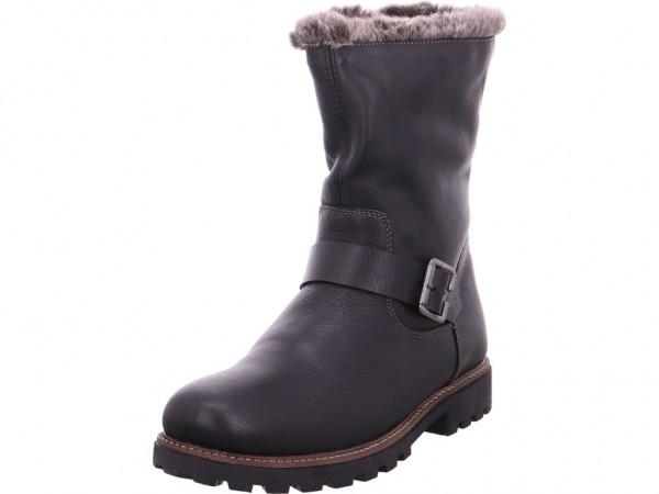 Remonte Damen Winter Stiefel Boots Stiefelette warm zum schlüpfen schwarz D7481-01