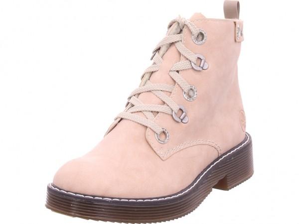 Rieker 7001131 700 Damen Winter Stiefel Boots Stiefelette warm Schnürer rot 70011-31