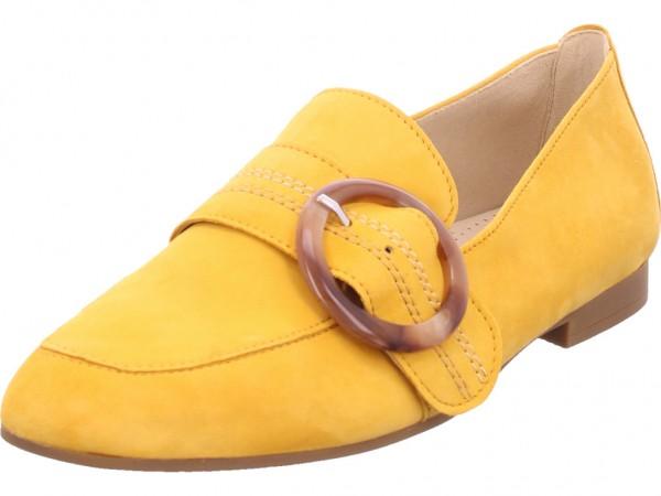 Gabor Damen Sneaker Slipper Ballerina sportlich zum schlüpfen gelb 44.212.13