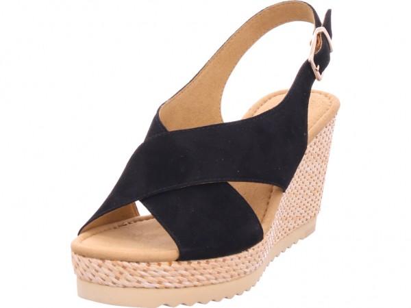 Gabor Damen Sandale Sandalette Sommerschuhe schwarz 45.791.17