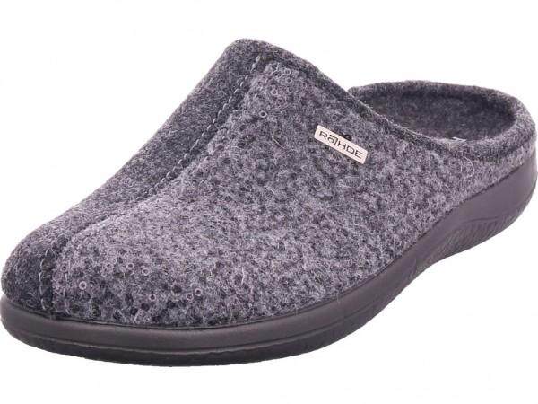 Rohde Damen Pantolette Sandalen Hausschuhe grau 6550-80
