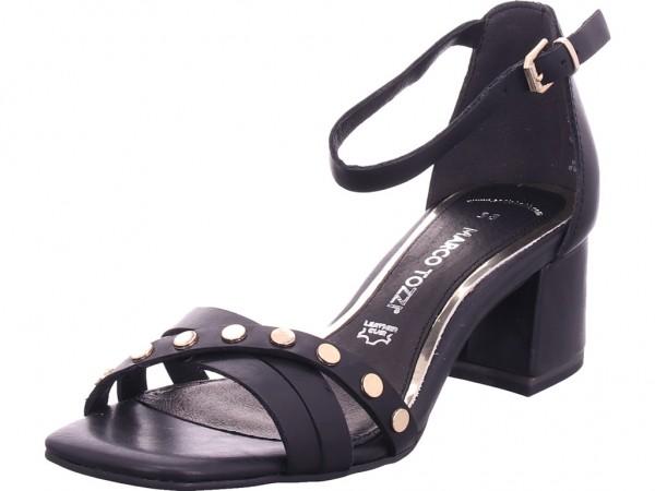 Marco Tozzi Damen Sandalette Damen Sandale Sandalette Sommerschuhe schwarz 2-2-28218-26/002