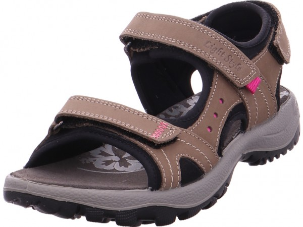imac Damen Sandale Sandalette Sommerschuhe beige 109541