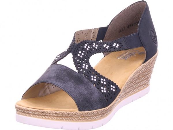 Rieker Damen Sandale Sandalette Sommerschuhe braun 619A3-14