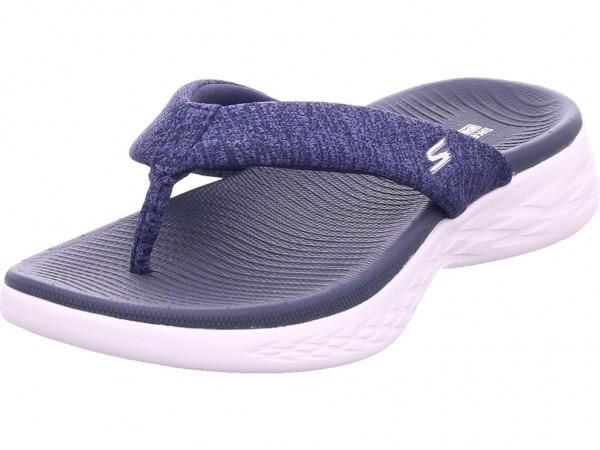 SKECHERS Damen Pantolette Sandalen Hausschuhe blau 15304 NVW