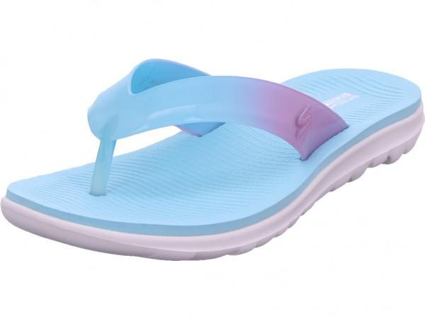SKECHERS Damen Pantolette Sandalen Hausschuhe blau 16225 TQPK