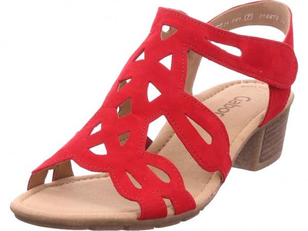 Gabor Damen Sandale Sandalette Sommerschuhe rot 24.561.15