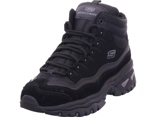 SKECHERS Damen Stiefel Schnürer Boots Stiefelette zum schnüren schwarz 48599 BBK