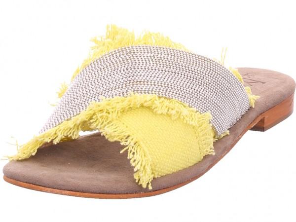 xyxyx Damen Pantolette Sandalen Hausschuhe gelb 064011