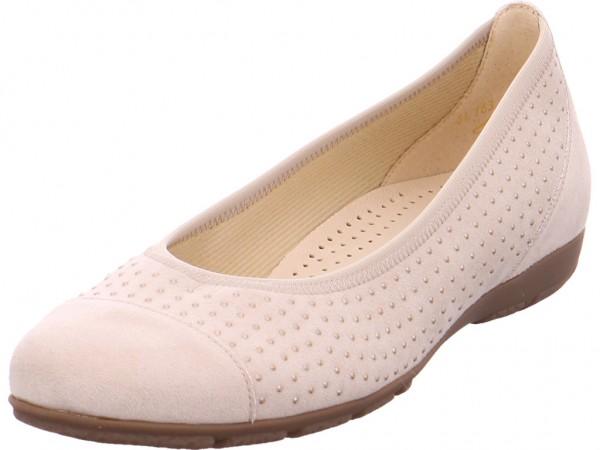 Gabor Damen Pumps flach Ballerina beige 84.163.42