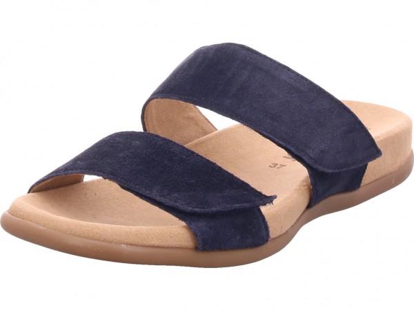 Gabor Damen Pantolette Sandalen Hausschuhe blau 23.708.16