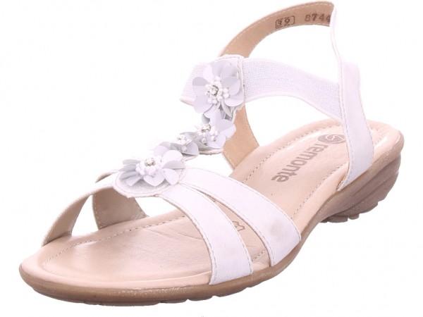 Remonte Damen Sandale Sandalette Sommerschuhe weiß R3633-90