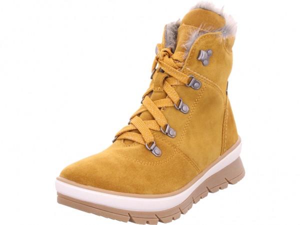 Jana Woms Boots Damen Winter Stiefel Boots Stiefelette warm Schnürer gelb 8-8-26230-23/627-627