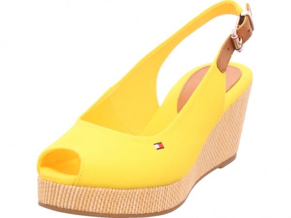 Tommy Hilfiger Damen Sandale Sandalette Sommerschuhe gelb FW0FW04788