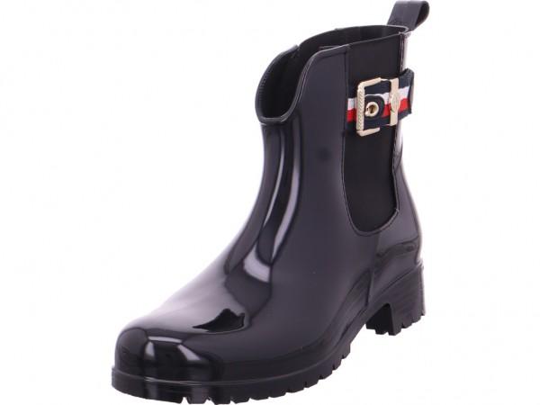 Tommy Hilfiger BELT RAIN BOOT Damen Gummistiefel schwarz FW0FW03329 990