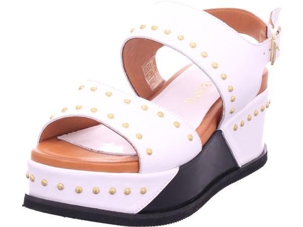 cafenoir Damen Sandale Sandalette Sommerschuhe weiß HH1340