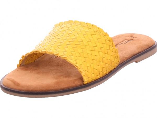 Tamaris Damen Pantolette Sandalen Hausschuhe Clogs Slipper gelb 1-1-27113-24/602-602
